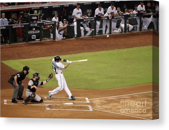 Playoffs Canvas Print featuring the photograph Paul Goldschmidt by Christian Petersen