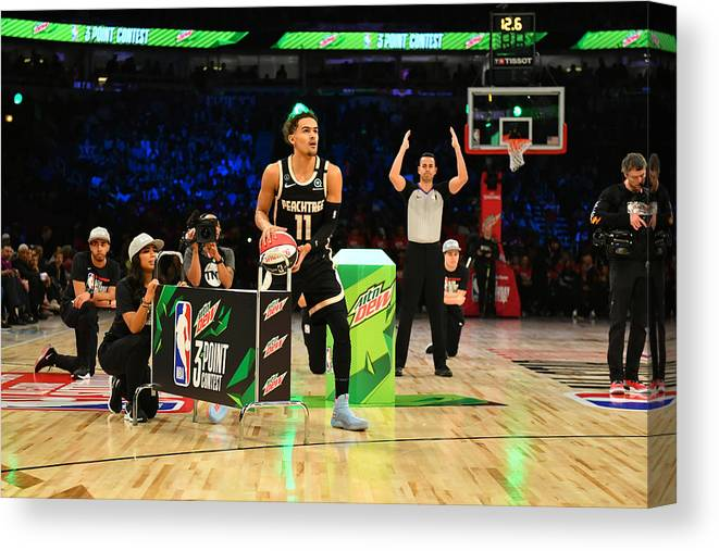 Nba Pro Basketball Canvas Print featuring the photograph 2020 NBA All-Star - MTN DEW 3-Point Contest by Jesse D. Garrabrant