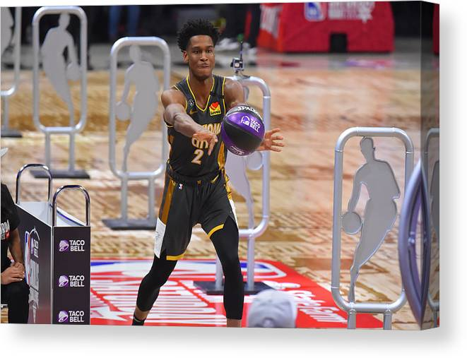 Nba Pro Basketball Canvas Print featuring the photograph 2020 NBA All-Star - Taco Bell Skills Challenge by Bill Baptist