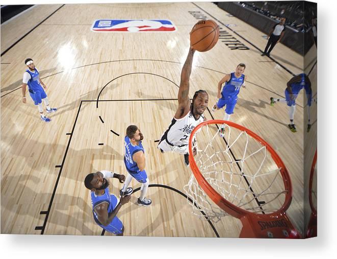 Playoffs Canvas Print featuring the photograph Kawhi Leonard by Jesse D. Garrabrant
