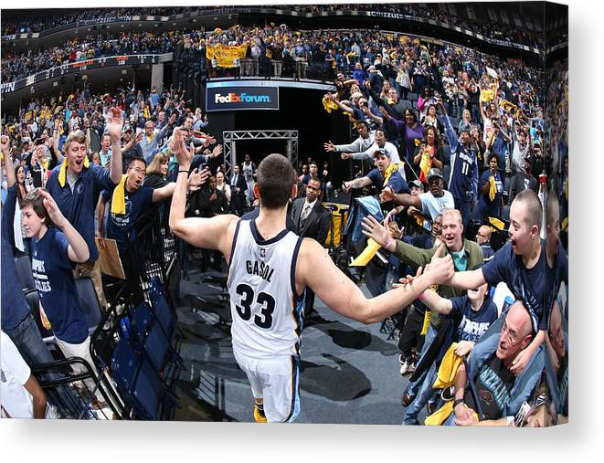 Playoffs Canvas Print featuring the photograph Marc Gasol by Joe Murphy