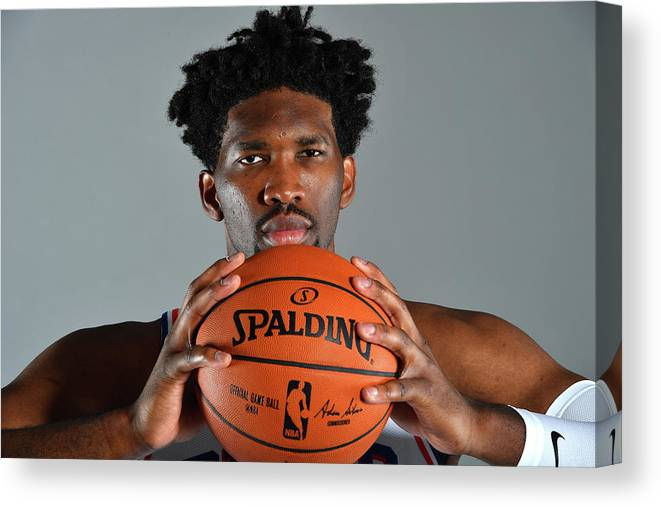 Media Day Canvas Print featuring the photograph Joel Embiid by Jesse D. Garrabrant