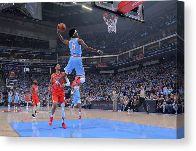 Nba Pro Basketball Canvas Print featuring the photograph De'aaron Fox by Rocky Widner