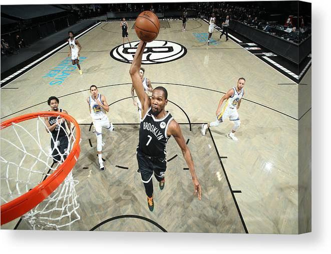 Nba Pro Basketball Canvas Print featuring the photograph Kevin Durant by Nathaniel S. Butler