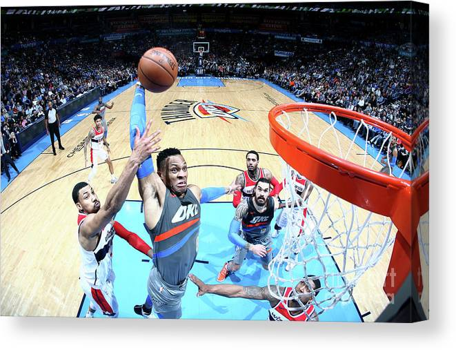 Nba Pro Basketball Canvas Print featuring the photograph Russell Westbrook by Layne Murdoch