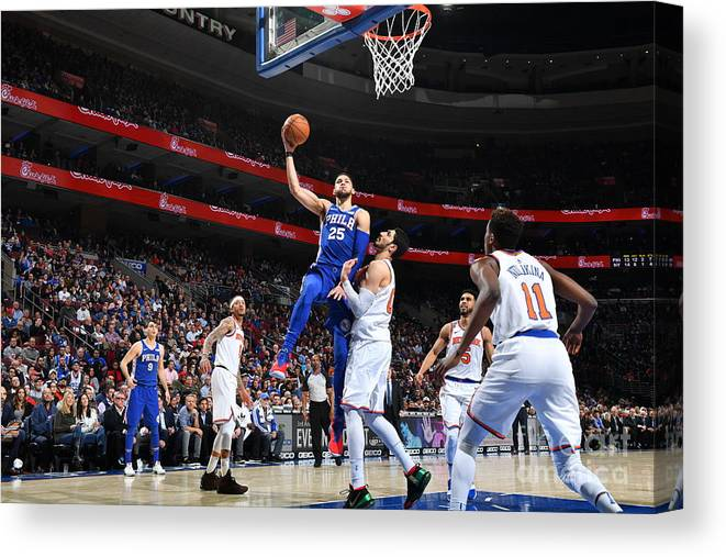 Nba Pro Basketball Canvas Print featuring the photograph Ben Simmons by Jesse D. Garrabrant