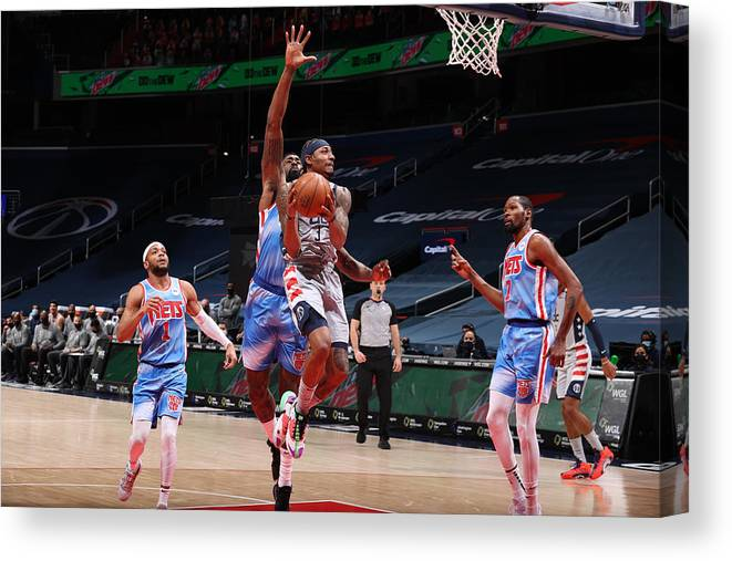 Nba Pro Basketball Canvas Print featuring the photograph Bradley Beal by Stephen Gosling
