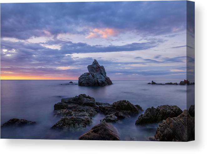 Spain Canvas Print featuring the photograph Cala Dels Frares In Lloret De Mar, Girona by Vicen Photography
