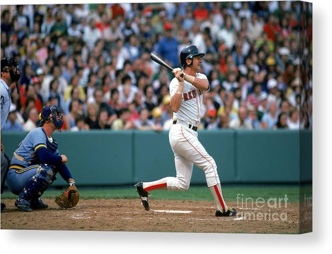 1980-1989 Canvas Print featuring the photograph Carl Yastrzemski by Rich Pilling