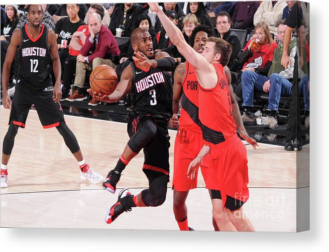 Nba Pro Basketball Canvas Print featuring the photograph Chris Paul by Sam Forencich