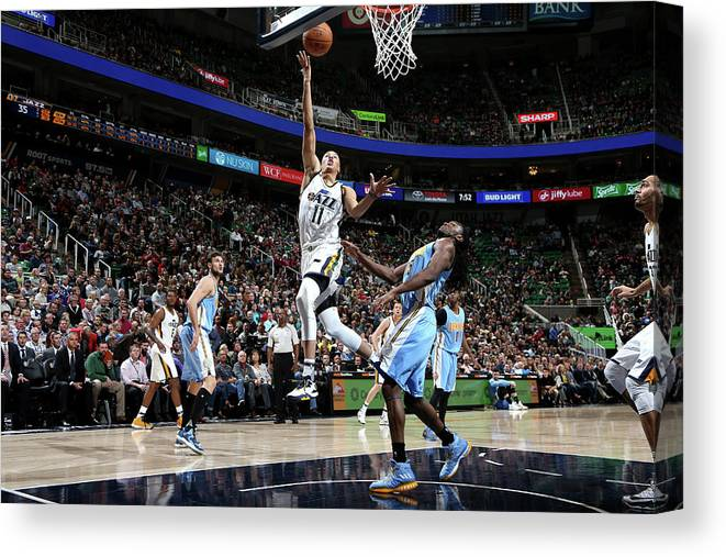 Nba Pro Basketball Canvas Print featuring the photograph Dante Exum by Melissa Majchrzak
