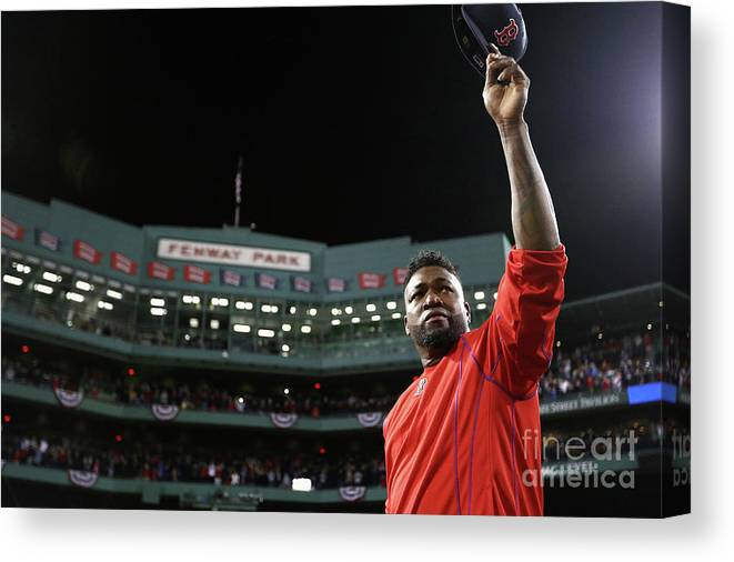 People Canvas Print featuring the photograph David Ortiz by Maddie Meyer