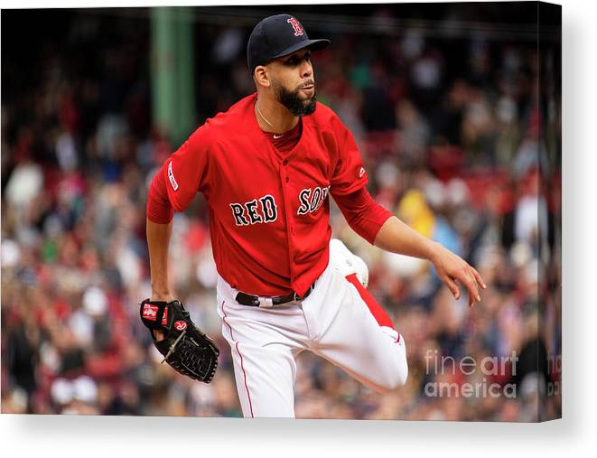 David Price Canvas Print featuring the photograph David Price by Billie Weiss/boston Red Sox