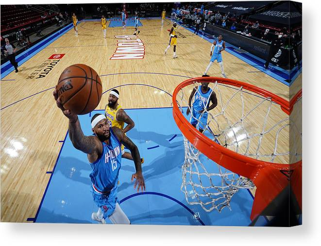 Nba Pro Basketball Canvas Print featuring the photograph Demarcus Cousins by Cato Cataldo