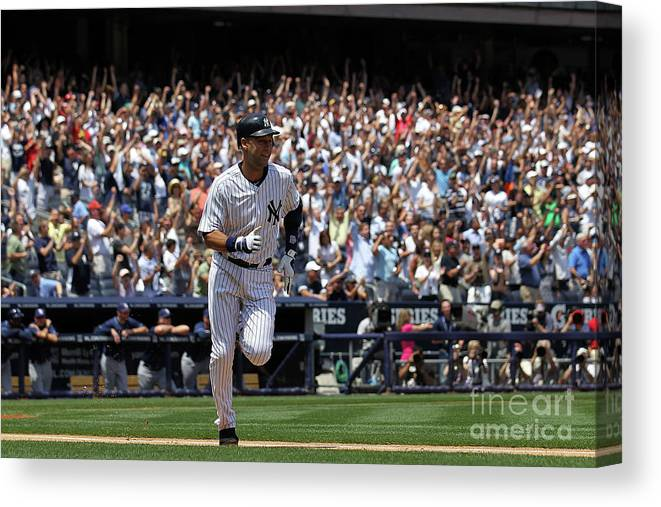 People Canvas Print featuring the photograph Derek Jeter by Nick Laham