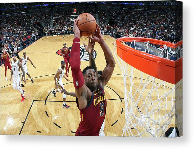 Smoothie King Center Canvas Print featuring the photograph Dwyane Wade by Layne Murdoch