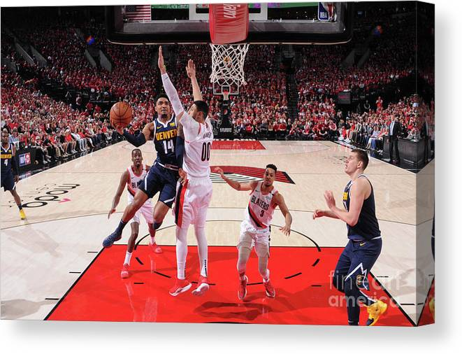 Playoffs Canvas Print featuring the photograph Gary Harris by Sam Forencich