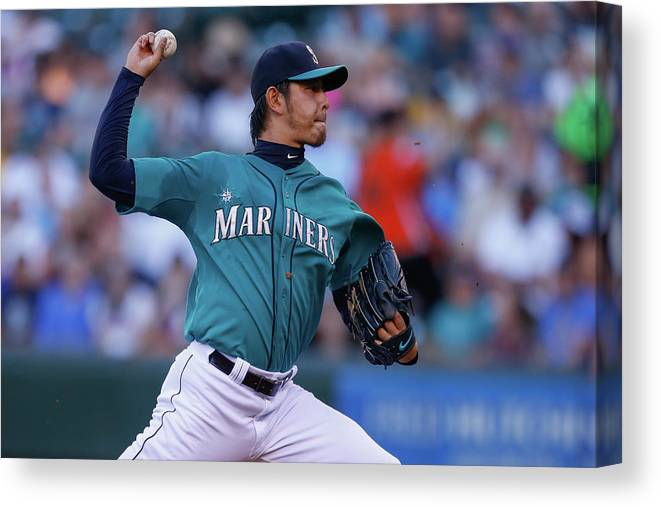 Hisashi Iwakuma Canvas Print featuring the photograph Hisashi Iwakuma by Otto Greule Jr