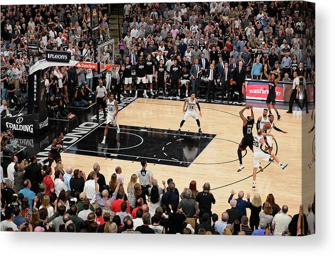 Playoffs Canvas Print featuring the photograph James Harden by David Dow