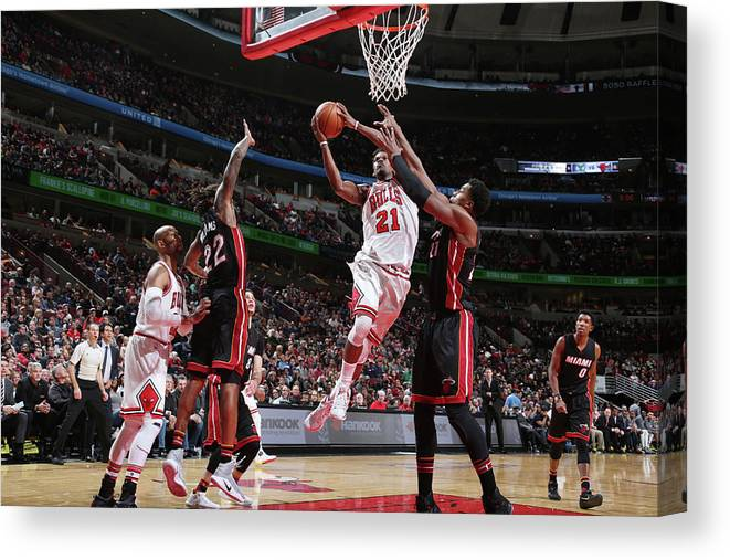 Nba Pro Basketball Canvas Print featuring the photograph Jimmy Butler by Nathaniel S. Butler