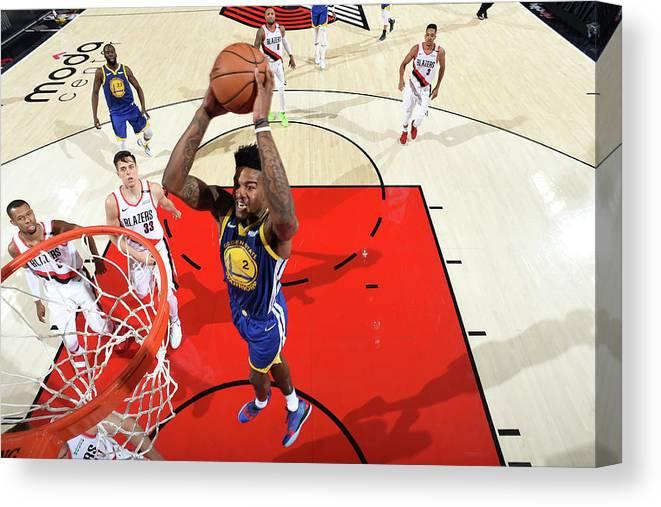 Nba Pro Basketball Canvas Print featuring the photograph Jordan Bell by Andrew D. Bernstein