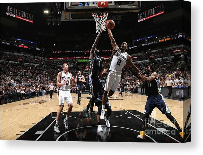Playoffs Canvas Print featuring the photograph Kawhi Leonard by Joe Murphy
