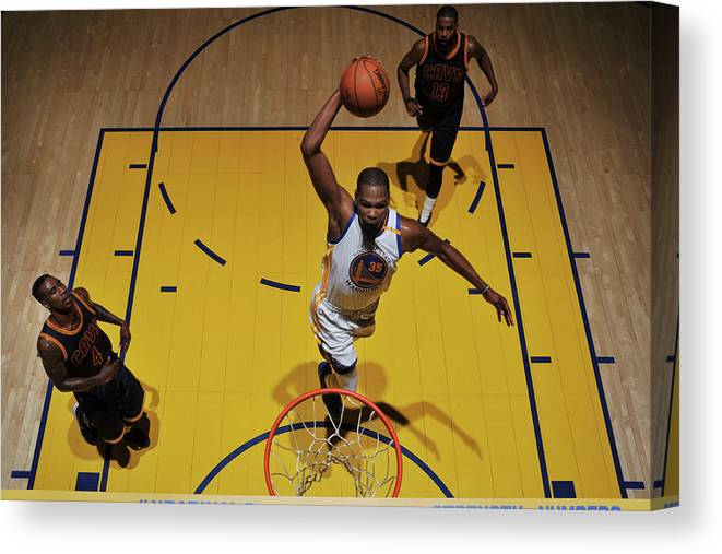 Playoffs Canvas Print featuring the photograph Kevin Durant by Garrett Ellwood