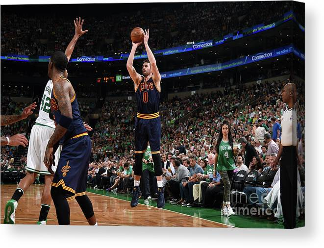Playoffs Canvas Print featuring the photograph Kevin Love by Brian Babineau
