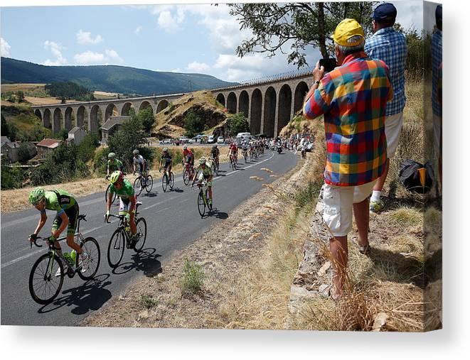 Charente Canvas Print featuring the photograph Le Tour de France 2015 - Stage Fifteen by Doug Pensinger