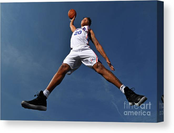 Nba Pro Basketball Canvas Print featuring the photograph Markelle Fultz by Jesse D. Garrabrant