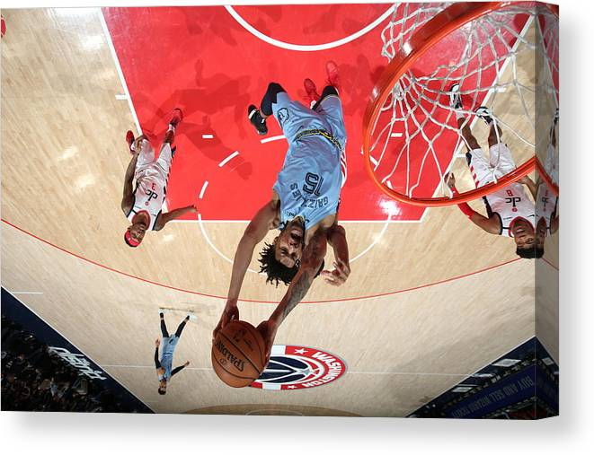 Nba Pro Basketball Canvas Print featuring the photograph Memphis Grizzlies v Washington Wizards by Stephen Gosling