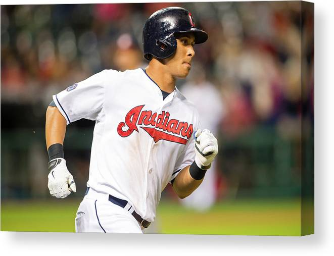 People Canvas Print featuring the photograph Michael Brantley by Jason Miller