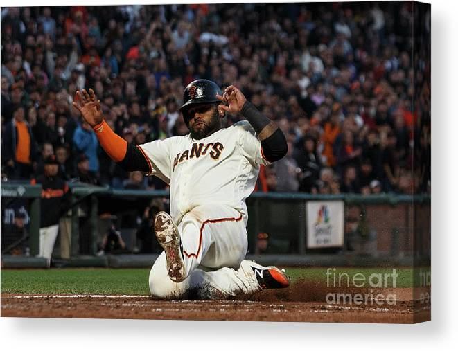 San Francisco Canvas Print featuring the photograph Pablo Sandoval by Jason O. Watson