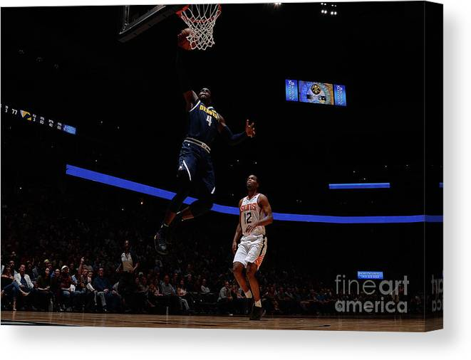 Nba Pro Basketball Canvas Print featuring the photograph Paul Millsap by Bart Young