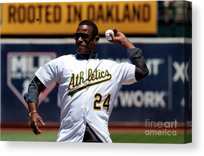 People Canvas Print featuring the photograph Rickey Henderson by Jason O. Watson