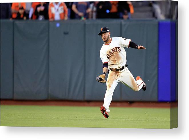 San Francisco Canvas Print featuring the photograph Salvador Perez by Jamie Squire