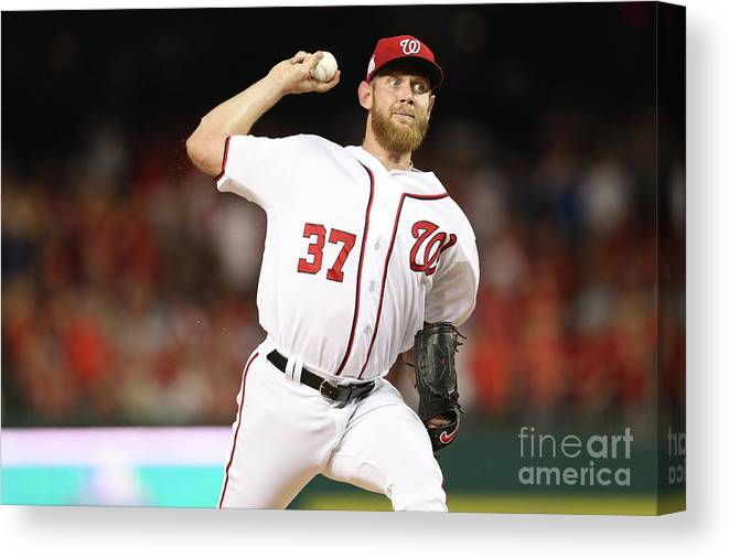 Three Quarter Length Canvas Print featuring the photograph Stephen Strasburg by Patrick Smith