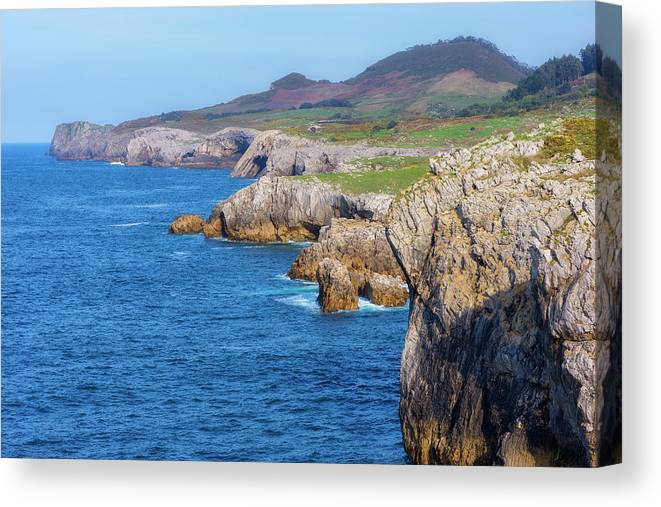 Color Canvas Print featuring the photograph The Cantabrian Coast By Llanes, Asturias by Vicen Photography