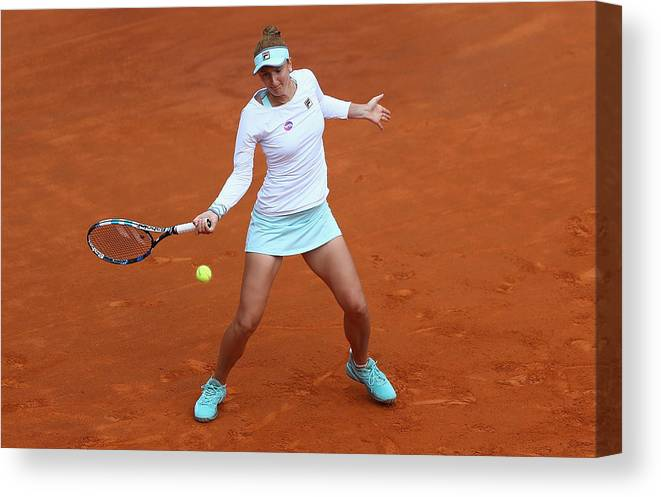 Tennis Canvas Print featuring the photograph The Internazionali BNL d'Italia 2016 - Day Seven by Matthew Lewis