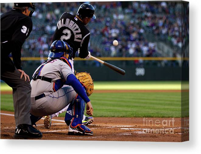 People Canvas Print featuring the photograph Troy Tulowitzki by Justin Edmonds