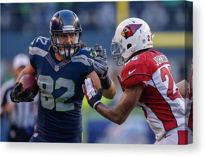 Arizona Cardinals Canvas Print featuring the photograph Arizona Cardinals v Seattle Seahawks by Otto Greule Jr
