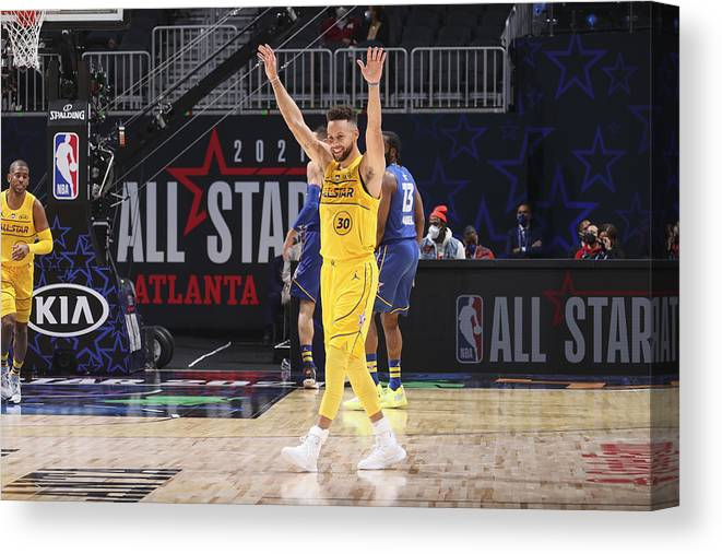 Atlanta Canvas Print featuring the photograph Stephen Curry by Nathaniel S. Butler
