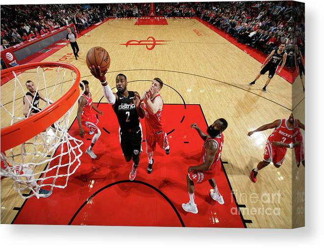 Nba Pro Basketball Canvas Print featuring the photograph John Wall by Ned Dishman