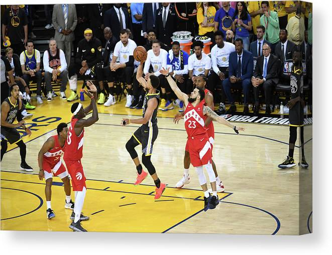 Playoffs Canvas Print featuring the photograph Stephen Curry by Noah Graham