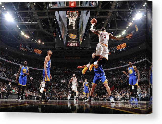 Playoffs Canvas Print featuring the photograph Lebron James by Andrew D. Bernstein