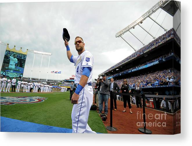 Crowd Canvas Print featuring the photograph Alex Gordon by Ed Zurga