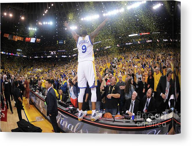 Playoffs Canvas Print featuring the photograph Andre Iguodala by Noah Graham