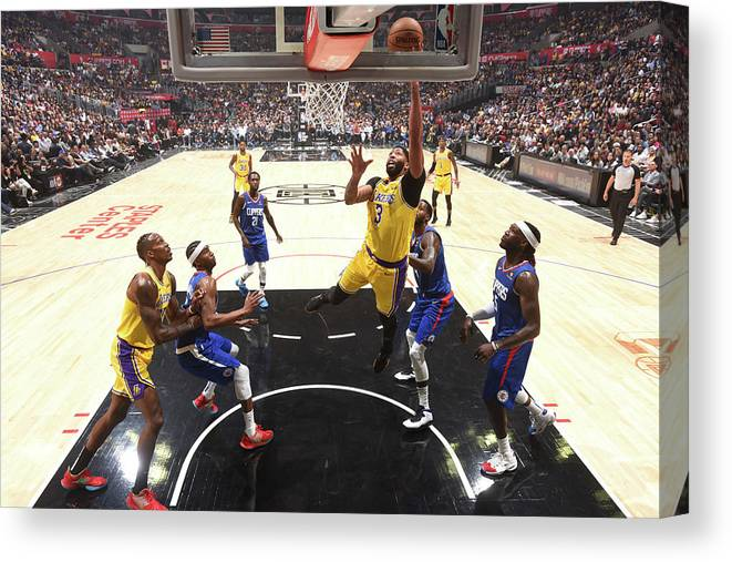 Nba Pro Basketball Canvas Print featuring the photograph Anthony Davis by Andrew D. Bernstein