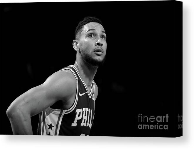 Nba Canvas Print featuring the photograph Ben Simmons by Nathaniel S. Butler