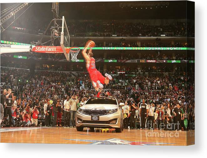 Kia Canvas Print featuring the photograph Blake Griffin by Nathaniel S. Butler